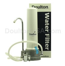 doulton countertop water filtration system with ultracarb candle
